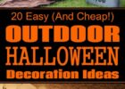 9 Easy (And Cheap!) DIY Outdoor Halloween Decoration Ideas ...