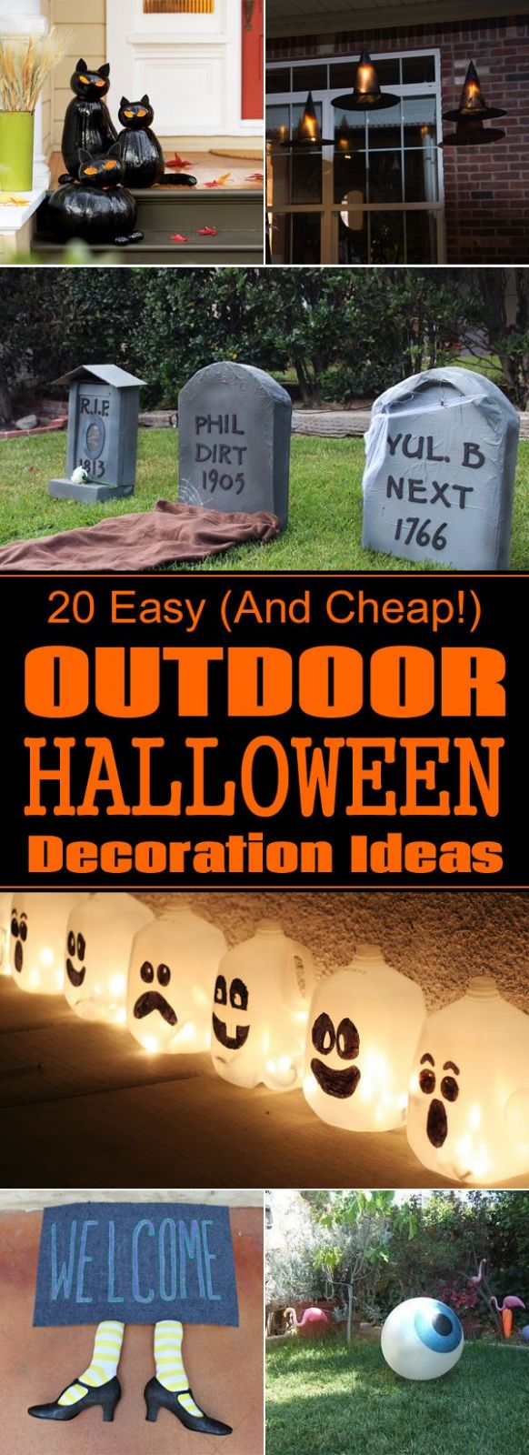 9 Easy (And Cheap!) DIY Outdoor Halloween Decoration Ideas ..