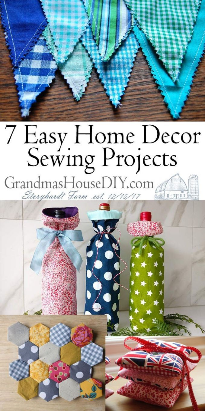 9 Easy Home Decor Sewing Projects - Grandmas House DIY - diy home decor sewing projects
