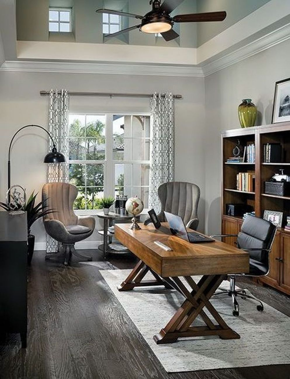9 Extraordinary Small Home Office Design Ideas With Traditional ..