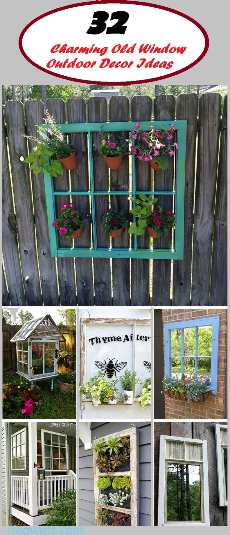 9 Fun and Inspiring Old Window Outdoor Decor Ideas to Make Your ...