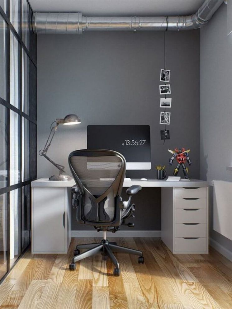 9 Home Office Ideas for Men on a Budget | How to Design Office at Home - small home office ideas for him