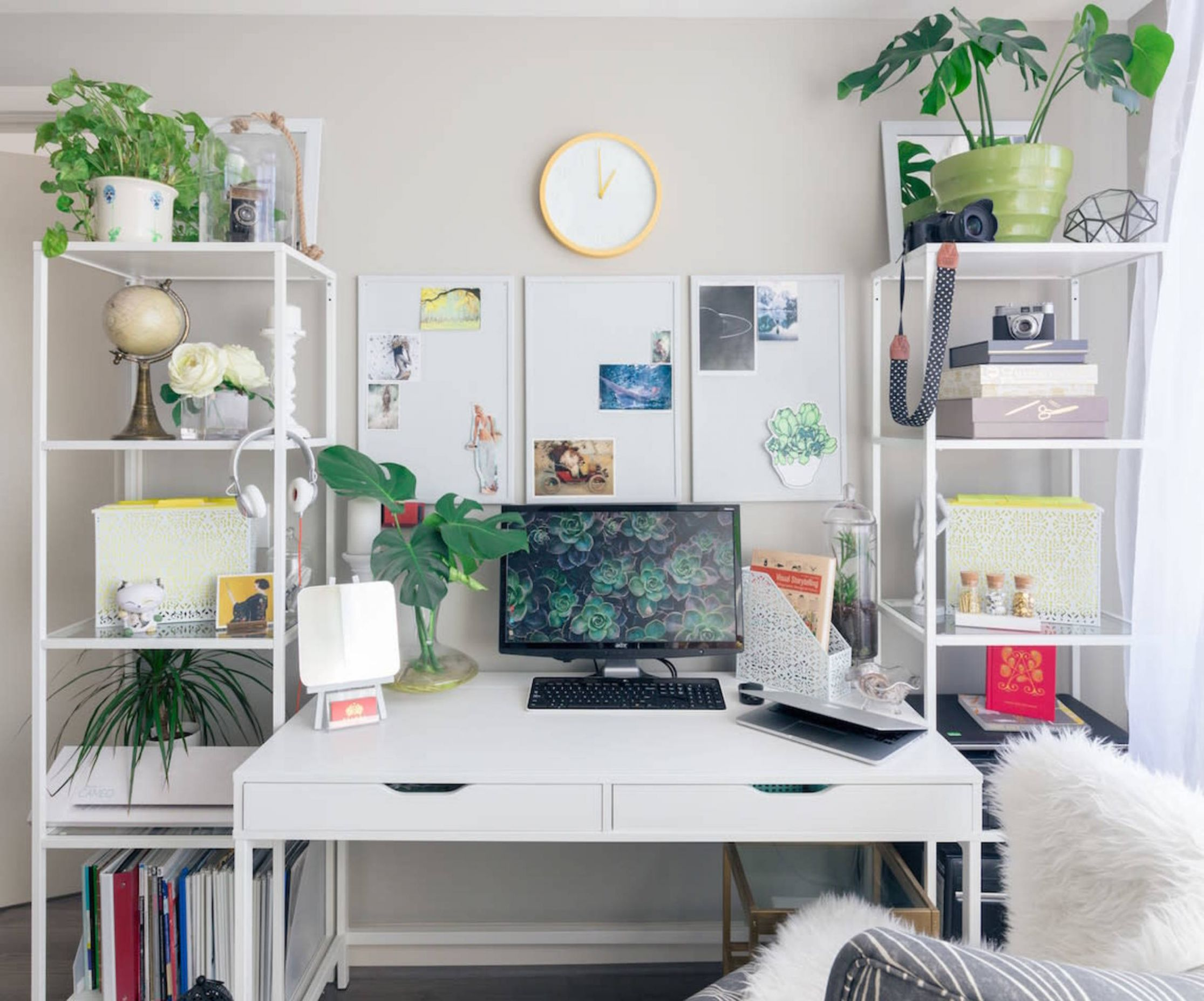 9 Home Office Ideas To Help You Work From Home Like A Boss - home office ideas for her