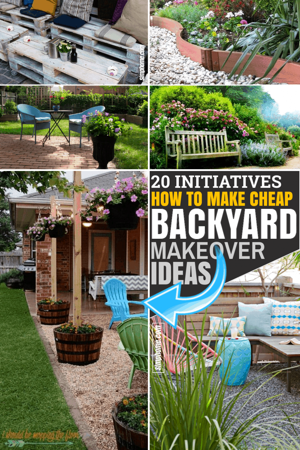 9 Initiatives of Cheap Backyard Makeover ideas - Simphome