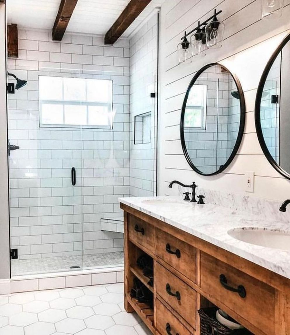 9 Latest Farmhouse Bathroom Design Ideas To Try | Diy bathroom ..
