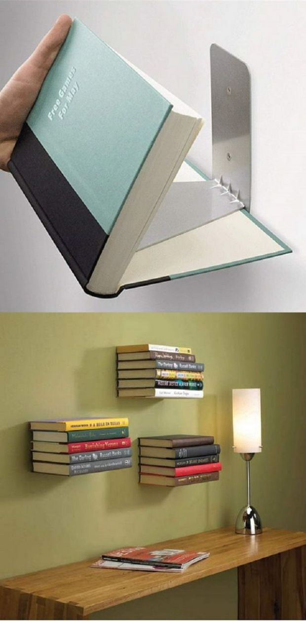 9 Low Budget DIY Home Decoration Projects-DIY Floating Book ..