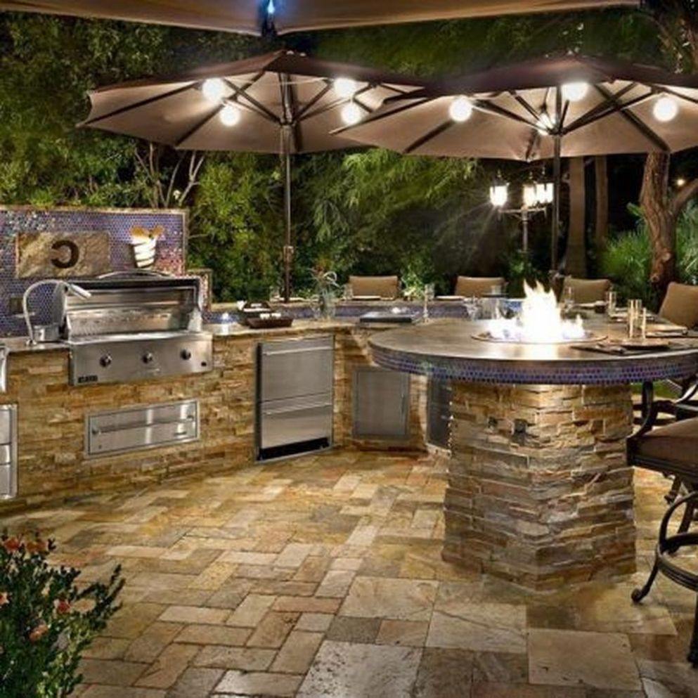 9+ Marvelous Outdoor Kitchen Design Ideas In Backyard - TRENDUHOME - backyard kitchen ideas pictures