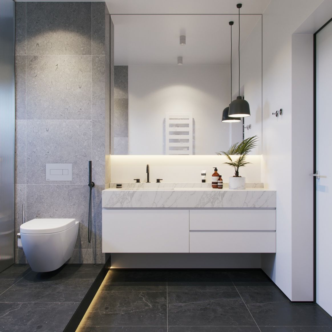 9 Modern Grey & White Bathrooms That Relax Mind Body & Soul