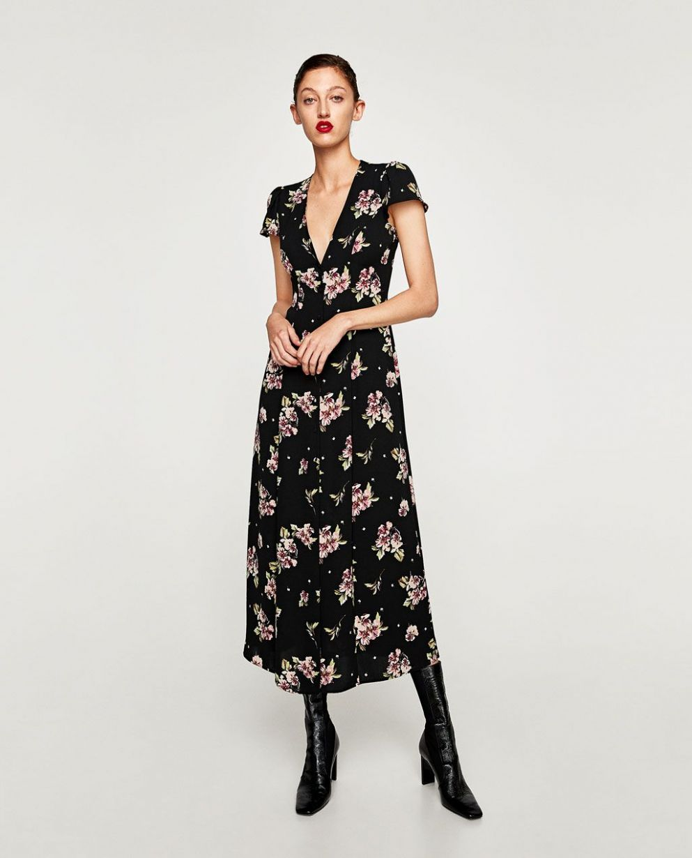 9 Must-Have New Buys At Zara | Plus size spring dresses, Floral ..