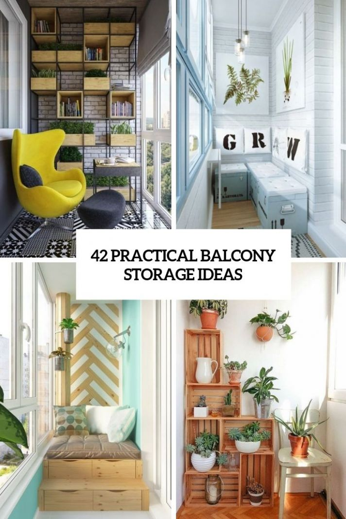 9 Practical Balcony Storage Ideas | Patio storage, Balcony design ..