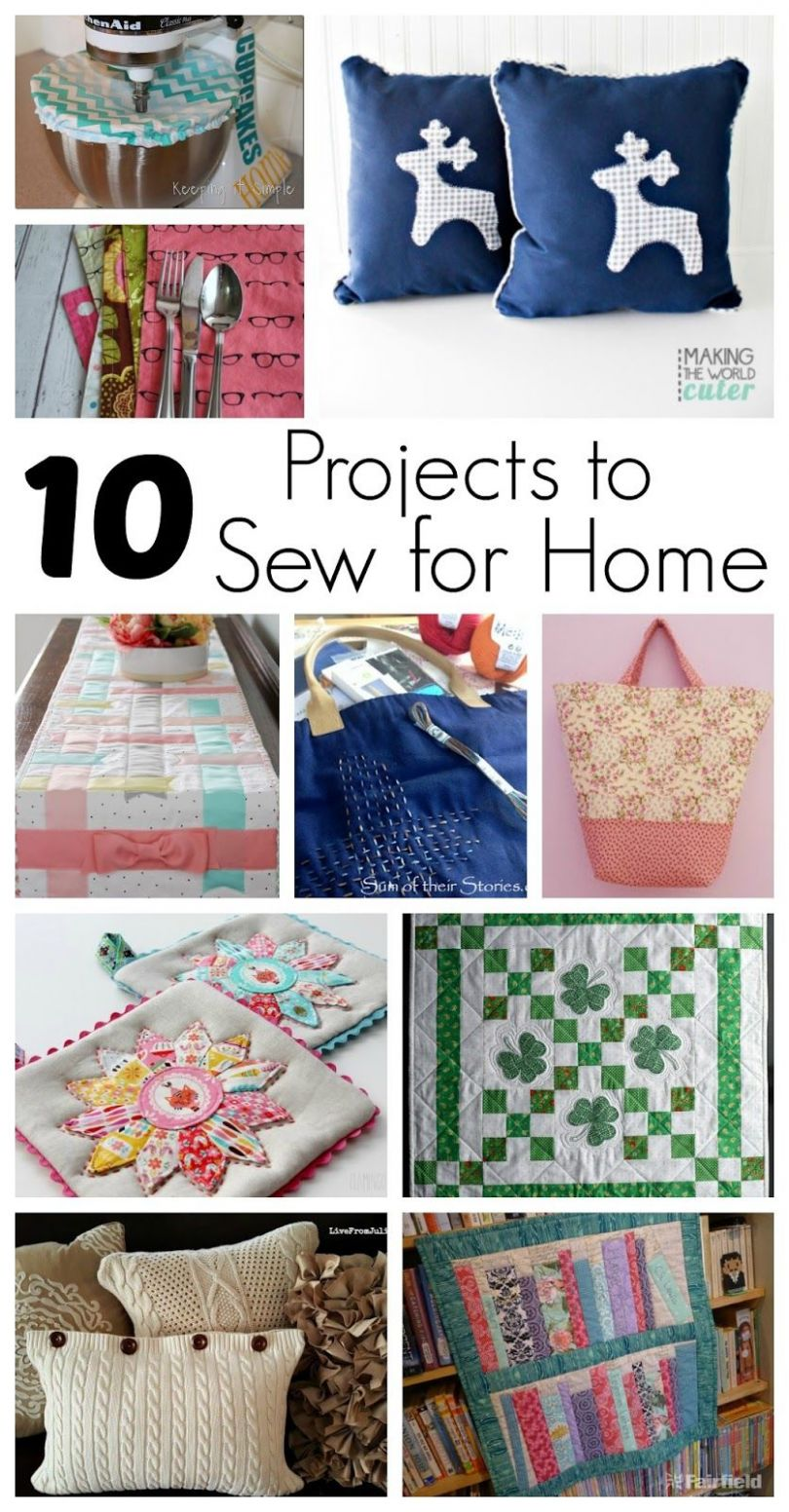 9 Projects to Sew for Home and Block Party | Sewing projects for ..