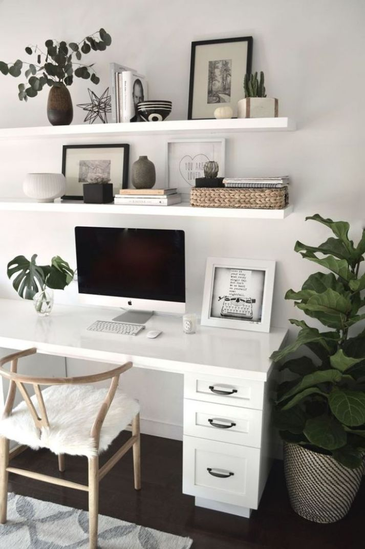 9 Simple Workspace Office Design Ideas | Home office space, Home ..