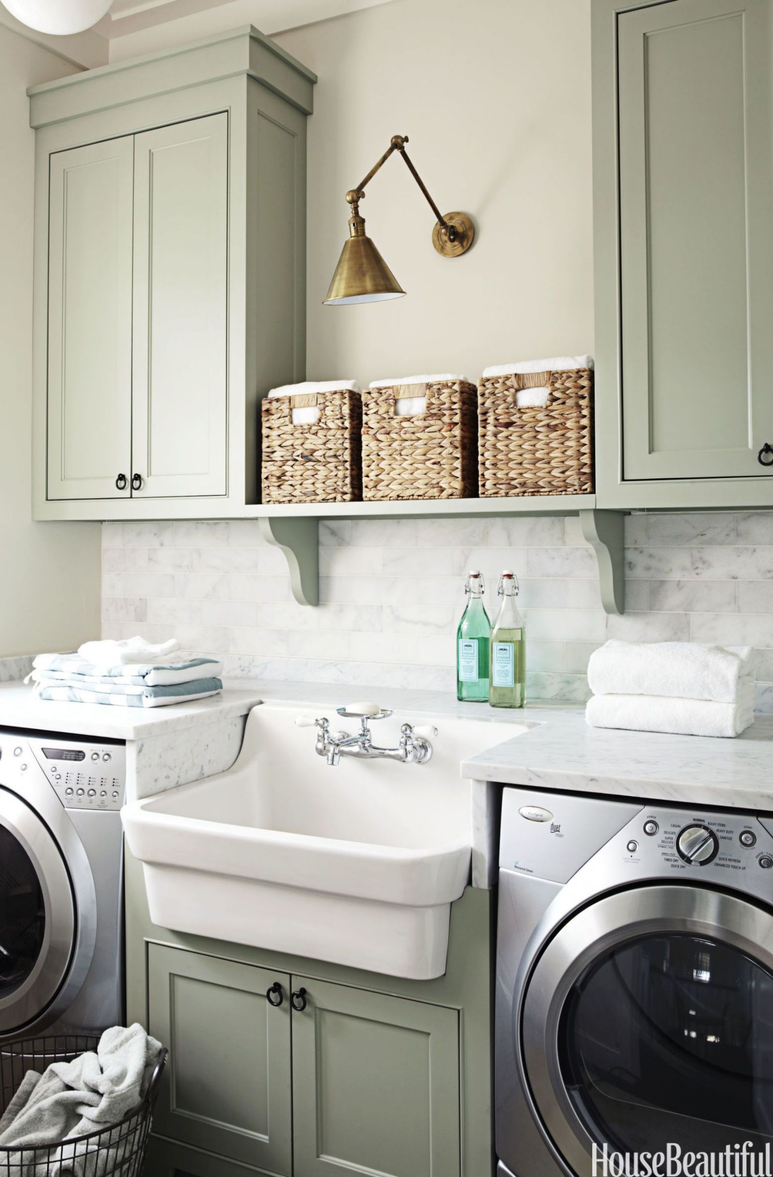 9 Small Laundry Room Ideas - Small Laundry Room Storage Tips - small laundry room ideas uk
