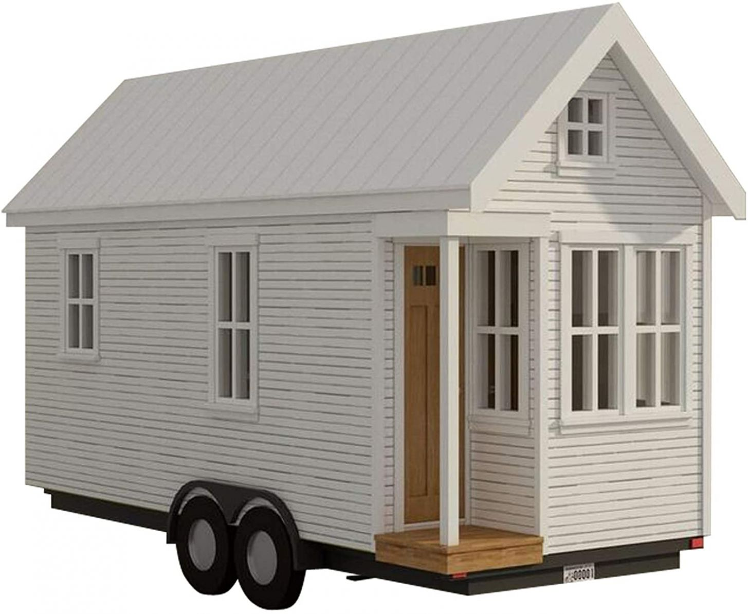 9 sq ft Tiny house - with loft on wheels plans DIY Fun to build!! Build  your own - tiny house on wheels plans