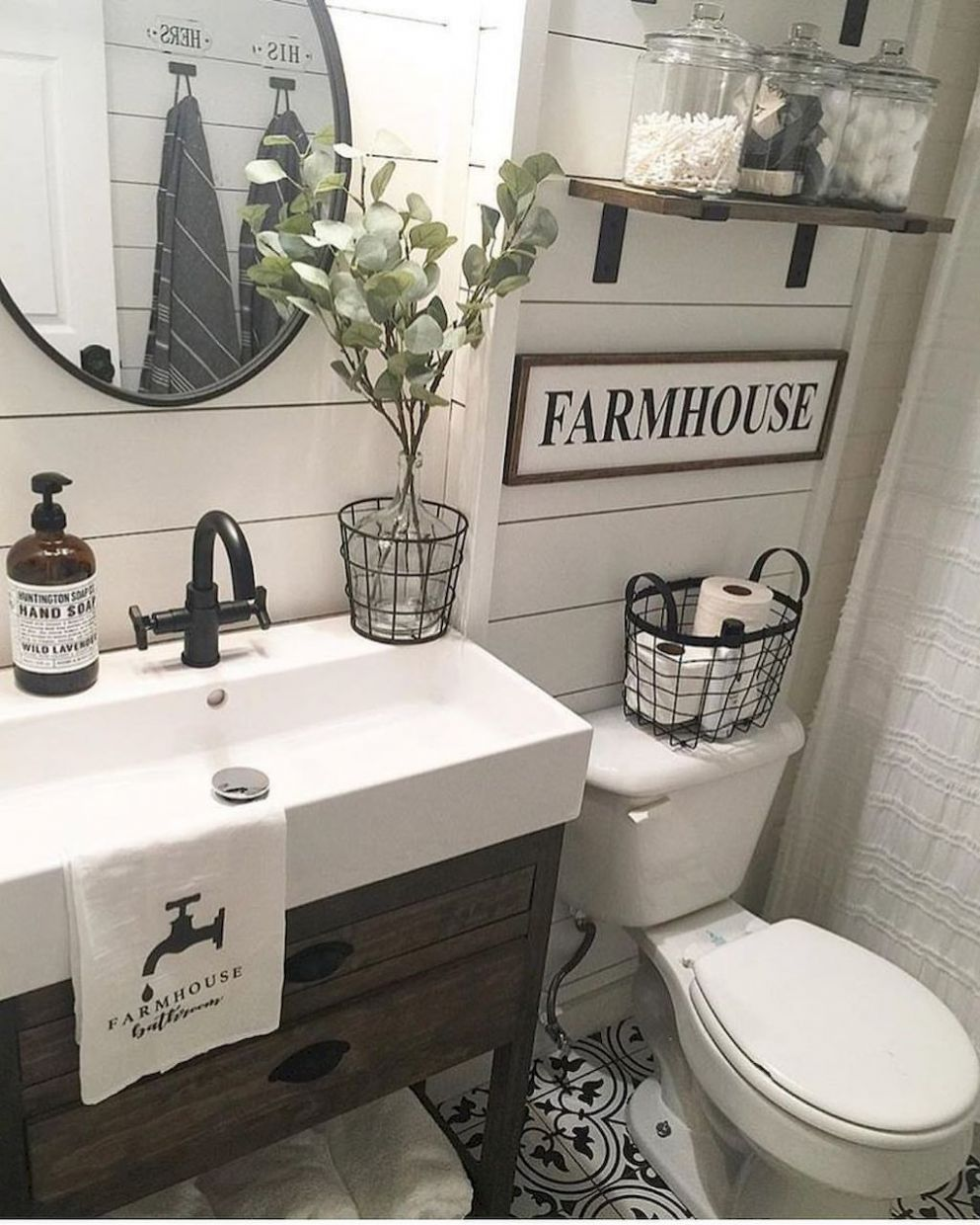 9 TOP RUSTIC FARMHOUSE BATHROOM IDEAS | Modern farmhouse bathroom ..