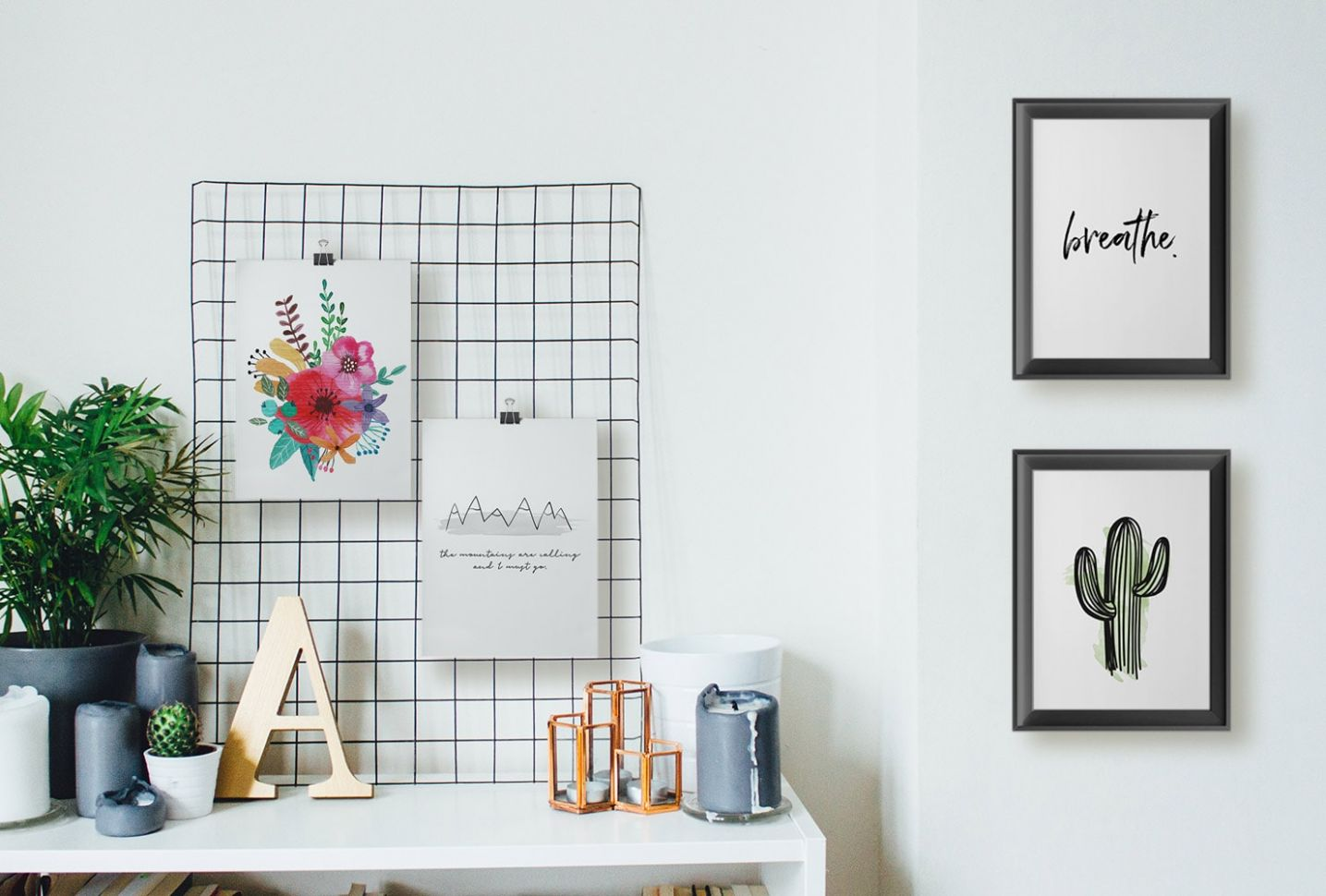 9 Unique DIY Wall Art Ideas (With Printables)   Shutterfly