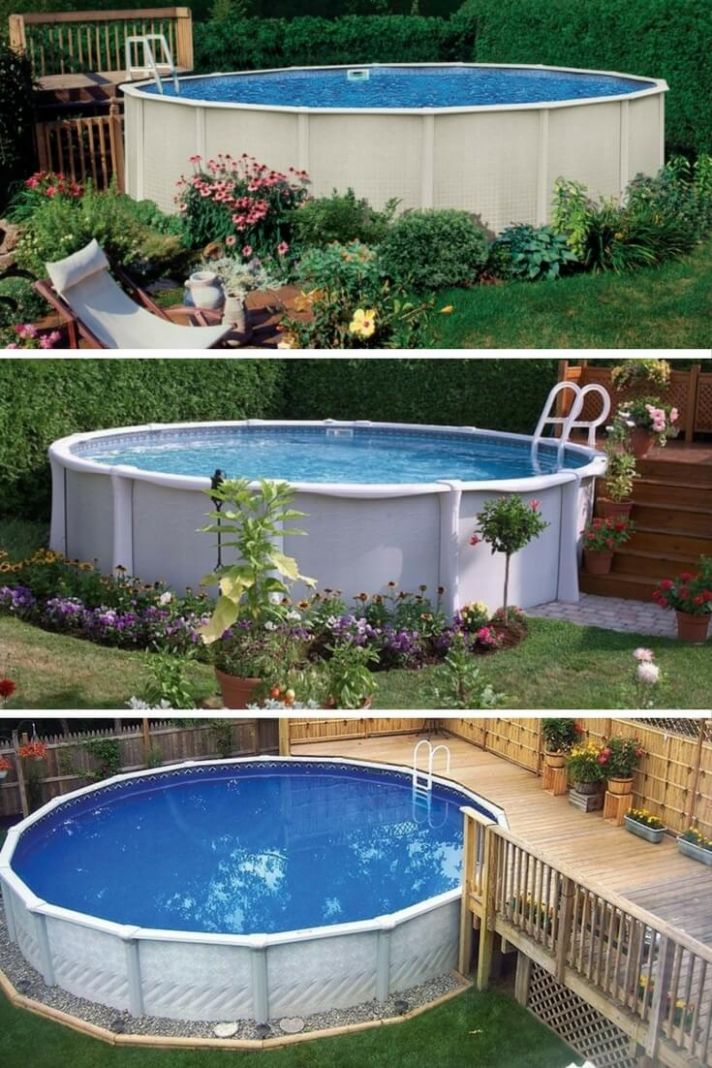 9 Uniquely Awesome Above Ground Pools with Decks - backyard ideas with above ground pool