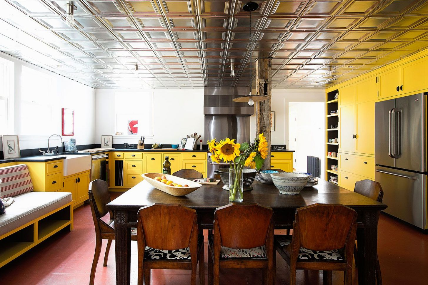 9 Yellow Kitchen Ideas - Decorating Tips for Yellow Colored Kitchens - kitchen ideas yellow