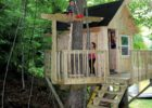 A Backyard Tree House With Zip Line and Hammock | Habitat | Kids ...
