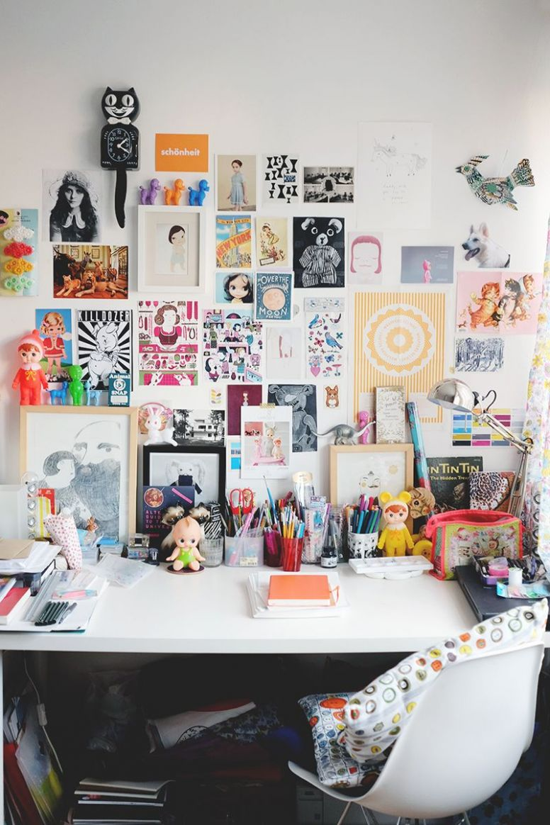 A cute and quirky home office + workspace! | Home office design ..