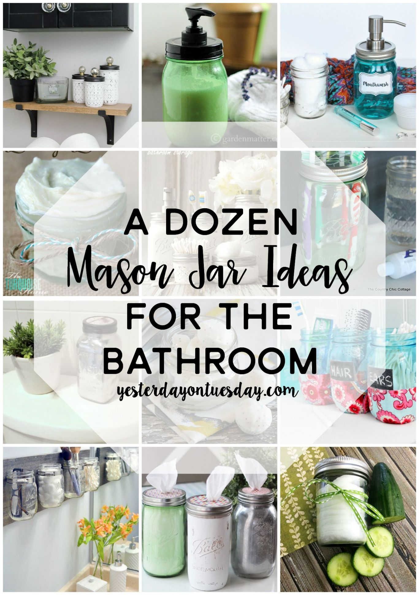 A Dozen Mason Jar Gifts for Teachers | Mason jar bathroom, Mason ...