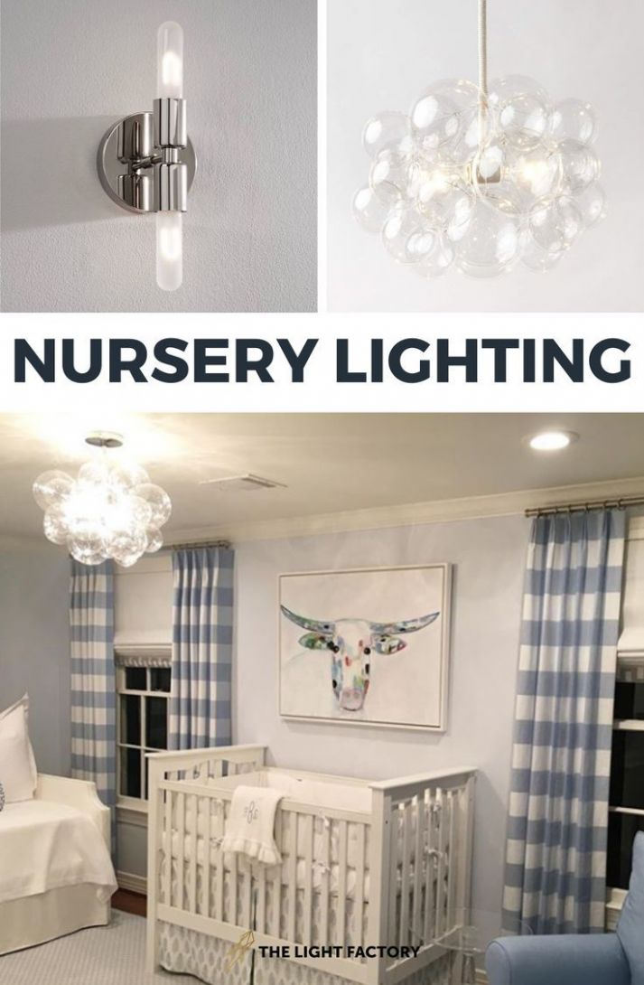 A gorgeous blue nursery for a baby boy with our bubble chandelier ..