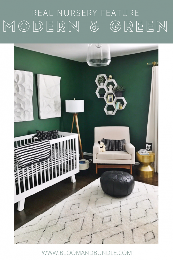 A Green Nursery with Modern Black and White Accents | Baby boy ...