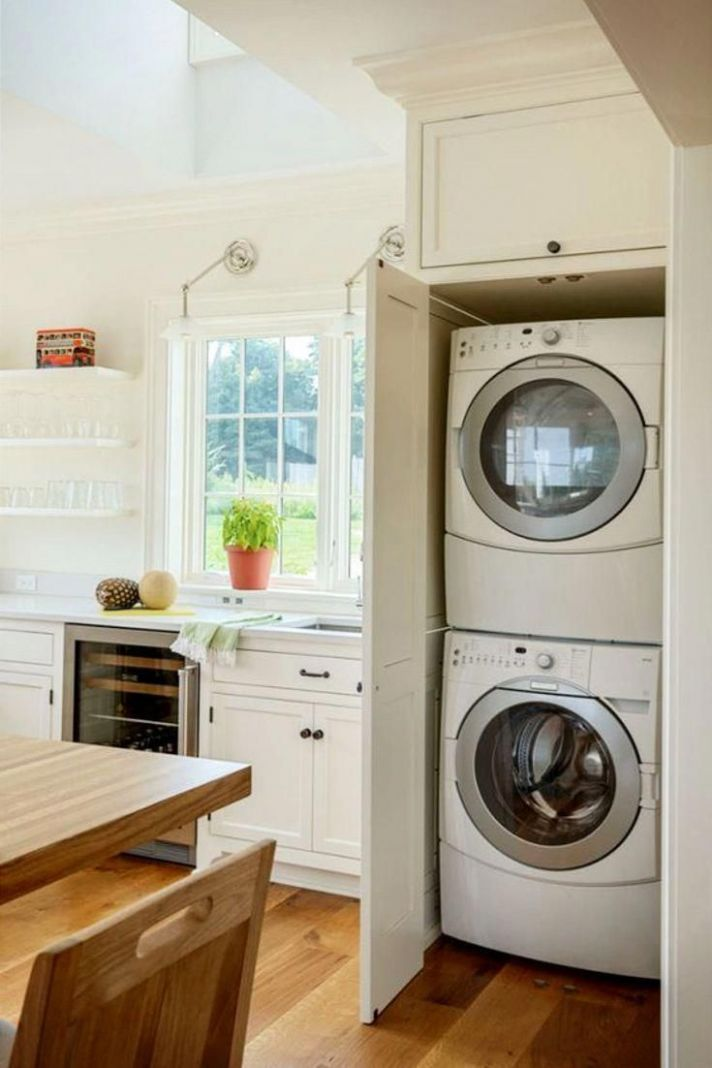 A kitchen as in the countryside | Washer dryer laundry room ..