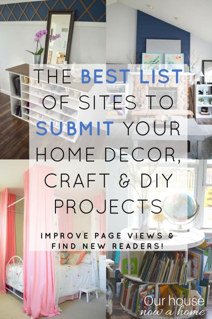 A list of sites to submit home decor, craft and DIY projects/blog ..