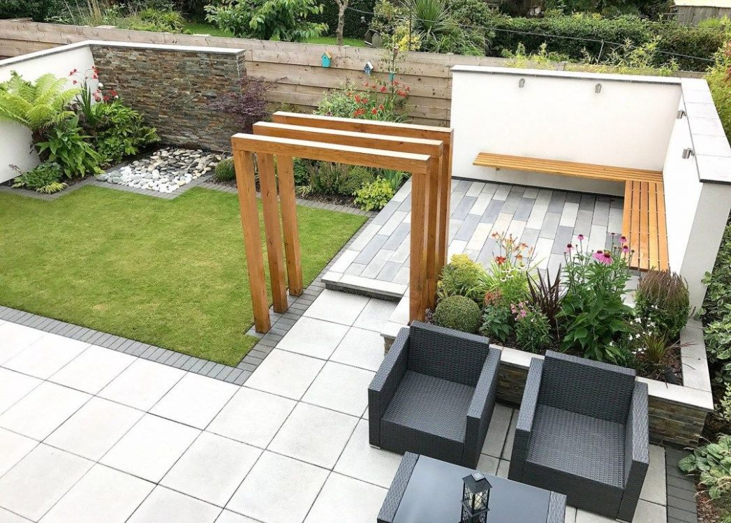 A Modern New Build Garden | New build garden ideas, English garden ..