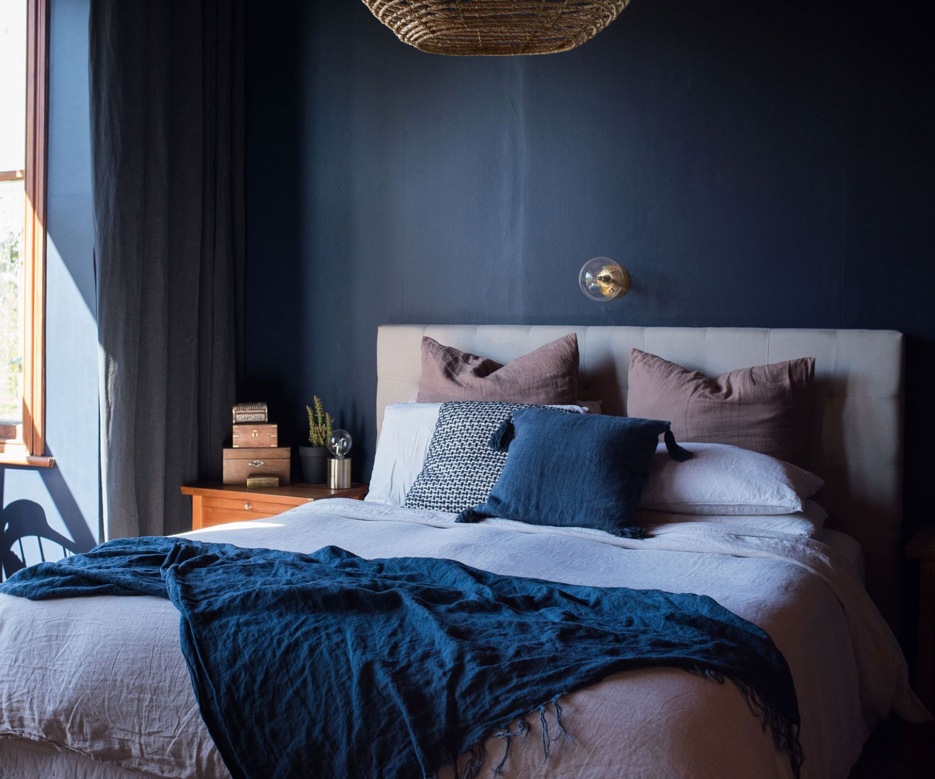 A moody bedroom is named the last Resene Colour Home Awards finalist