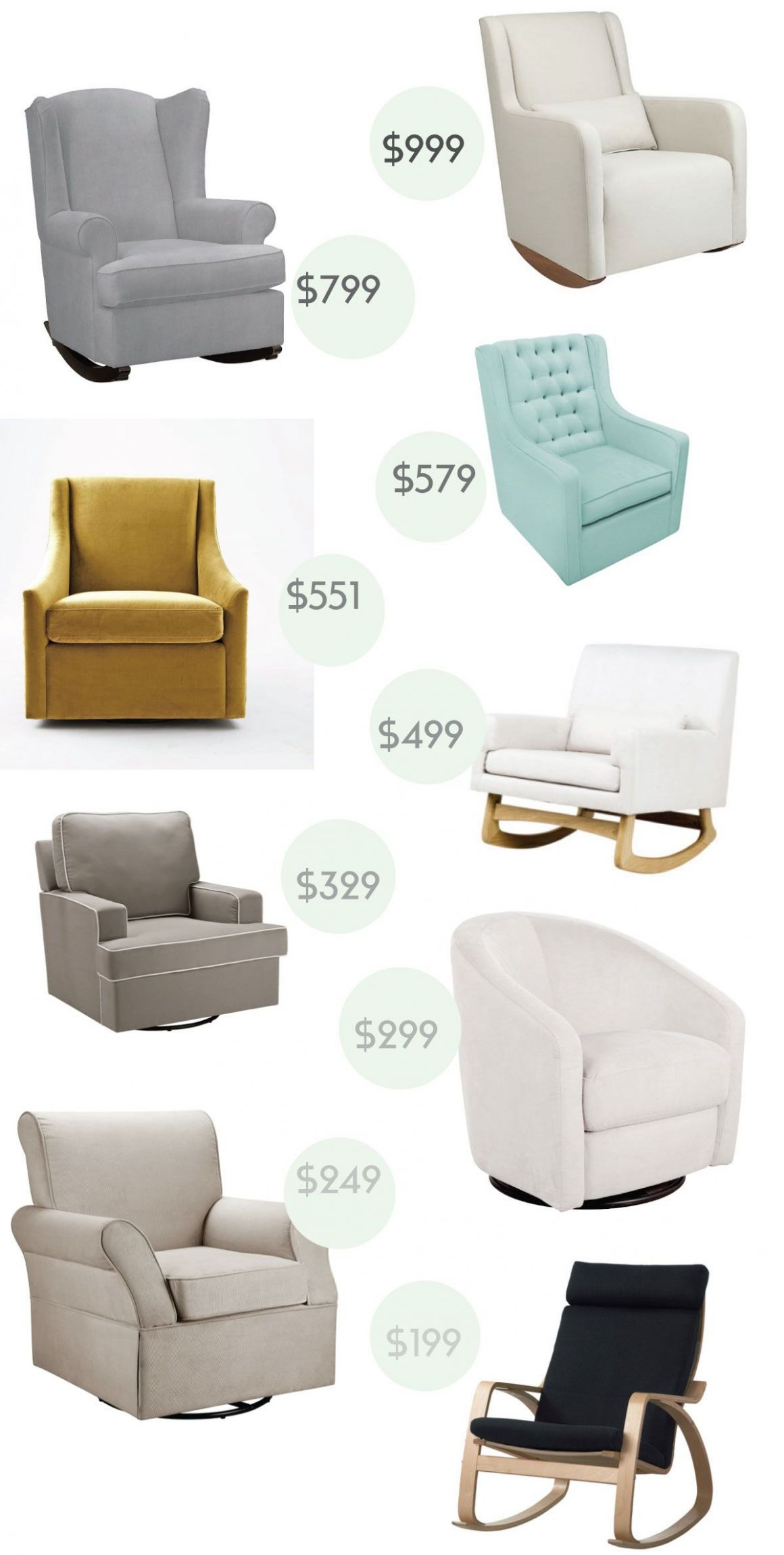 A Nursery Glider / Rocker at Every Budget | Baby room, Baby decor ...