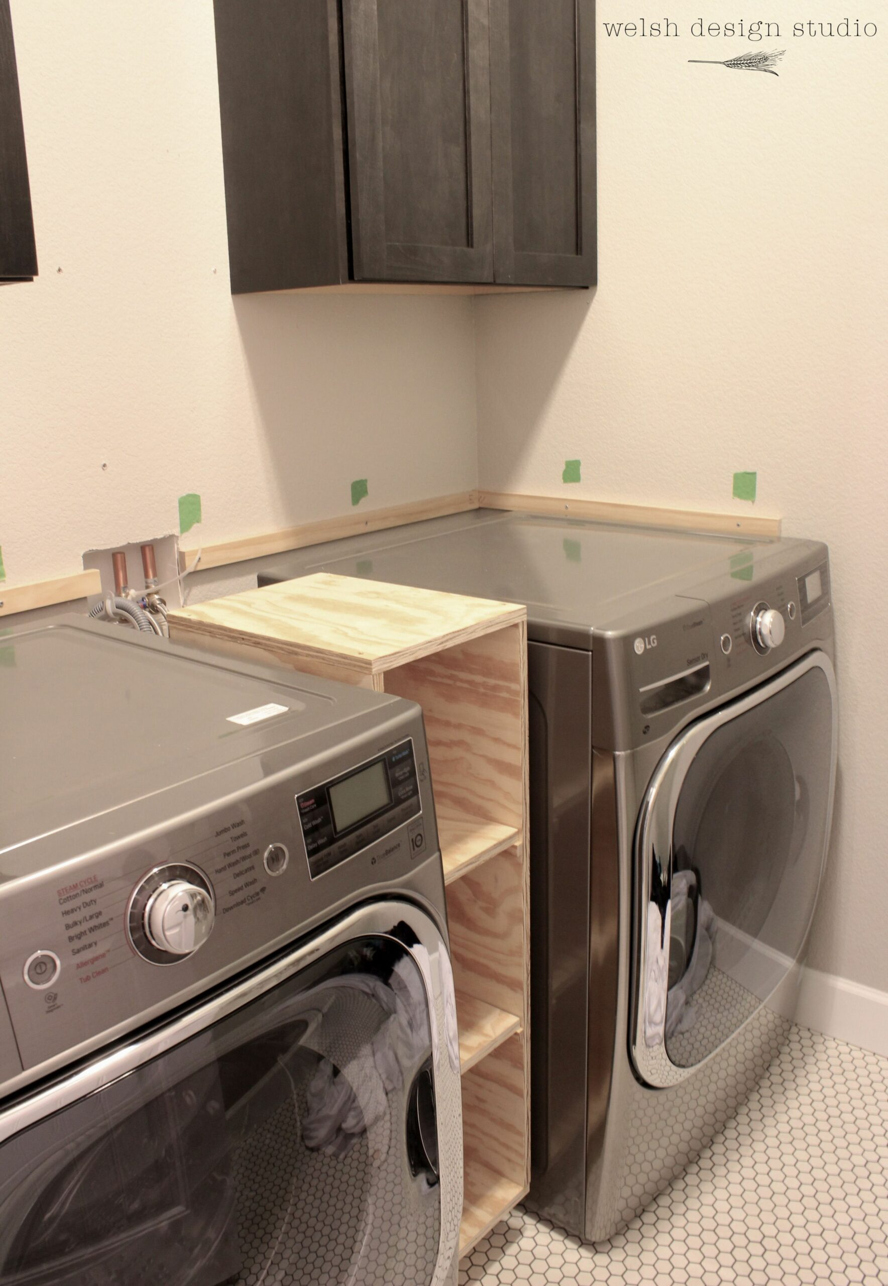 A Quick Laundry Room Progress Update | Laundry room countertop ..