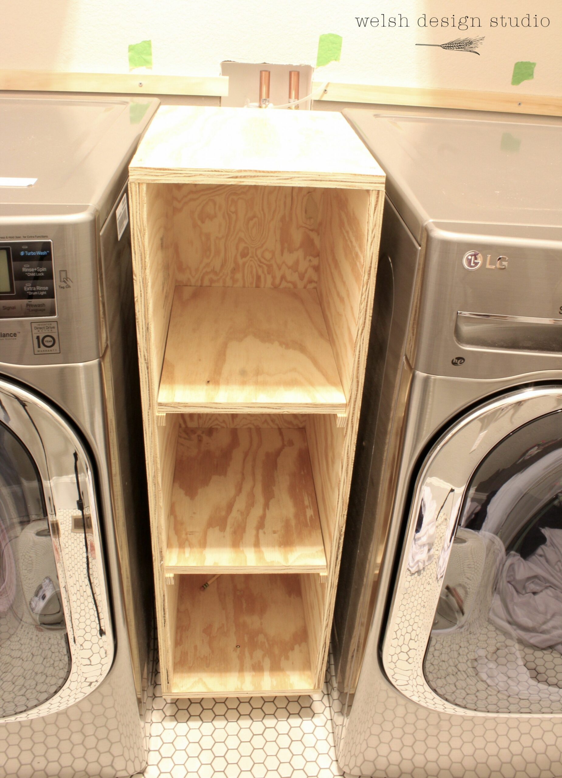 A Quick Laundry Room Progress Update | Laundry room storage ..