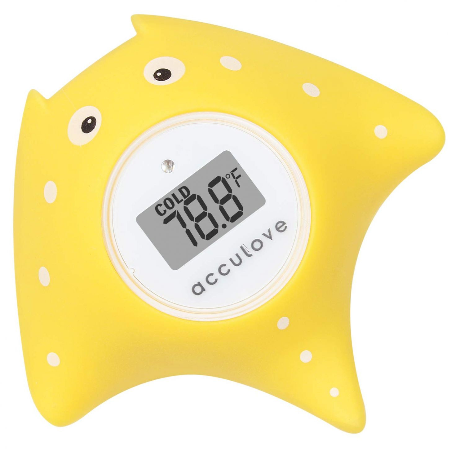 Acculove Baby Bath Thermometer,Room Thermometer, Baby Safe Floating Bath  Thermometer for Bathtub and Swimming Pool, Yellow Fish Cartoon Shape, Safe  ..