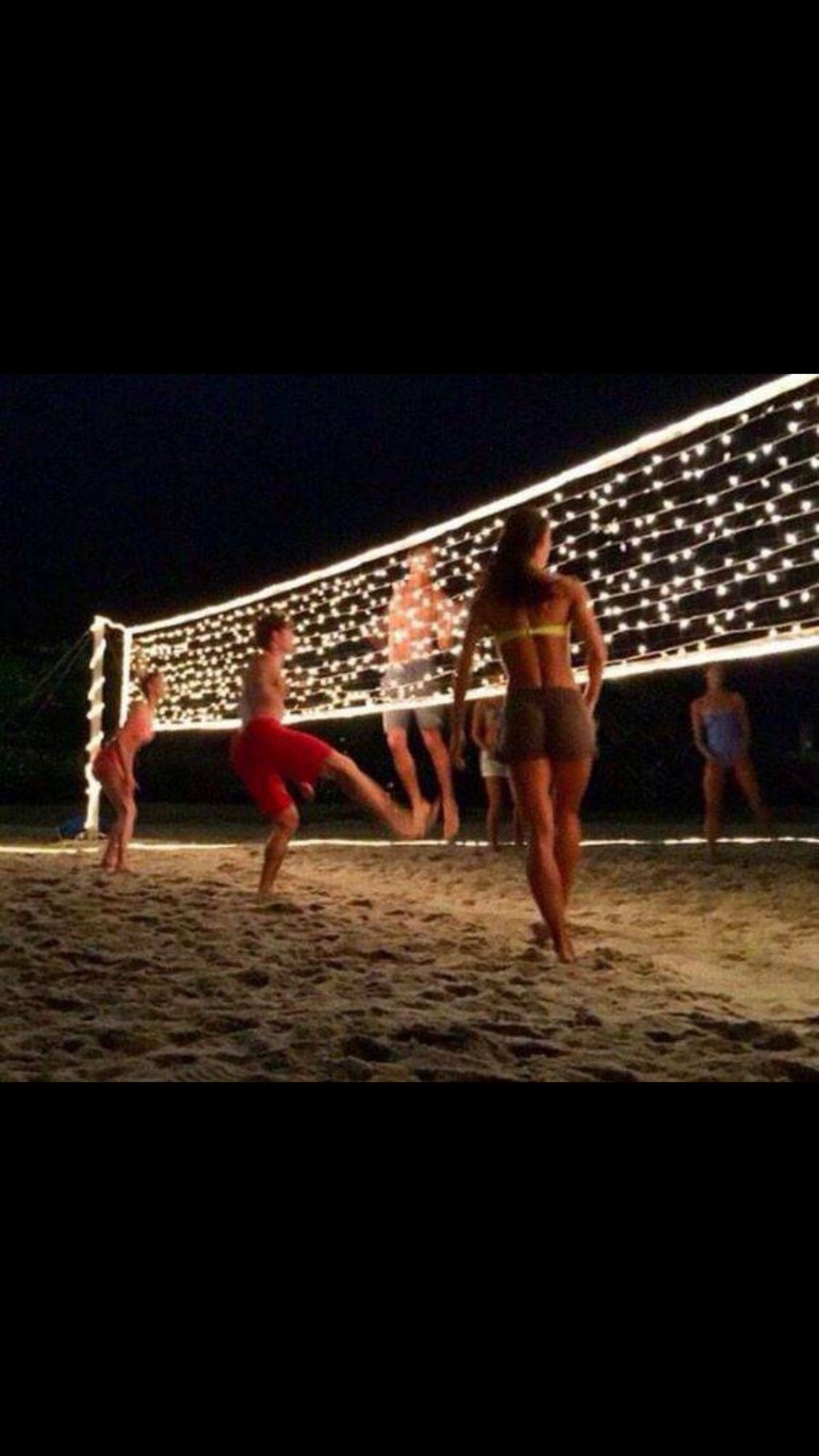 Add lights to the net for glow in the dark volleyball!!!! | Summer ..