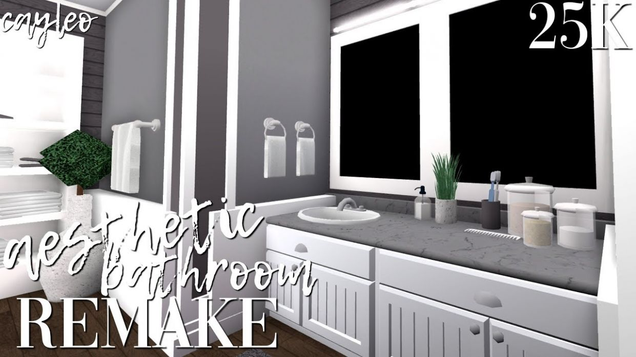 aesthetic bathroom remake! || bloxburg