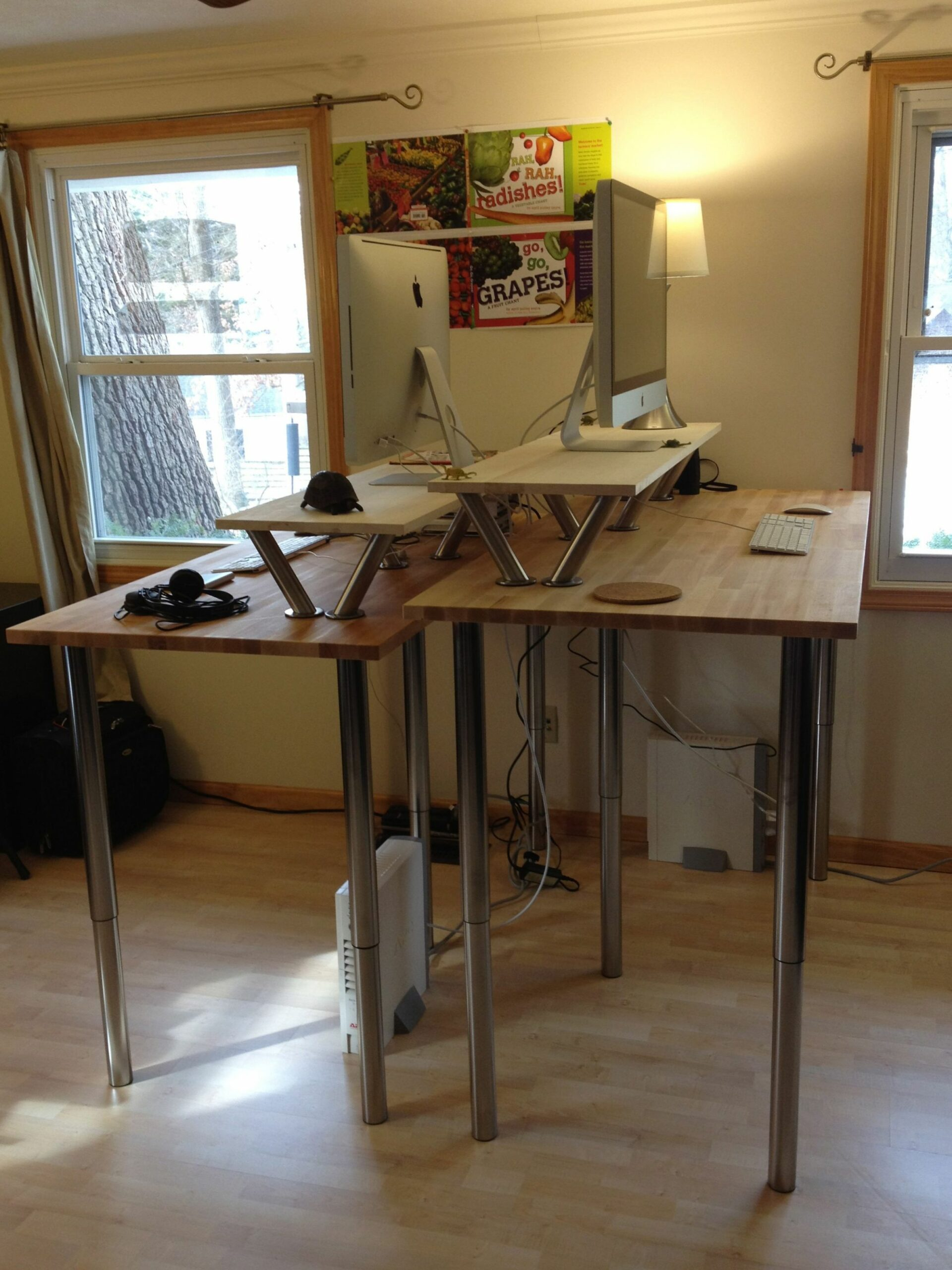 All Rise or A Standing Ovation | Diy standing desk - home office ideas with standing desk