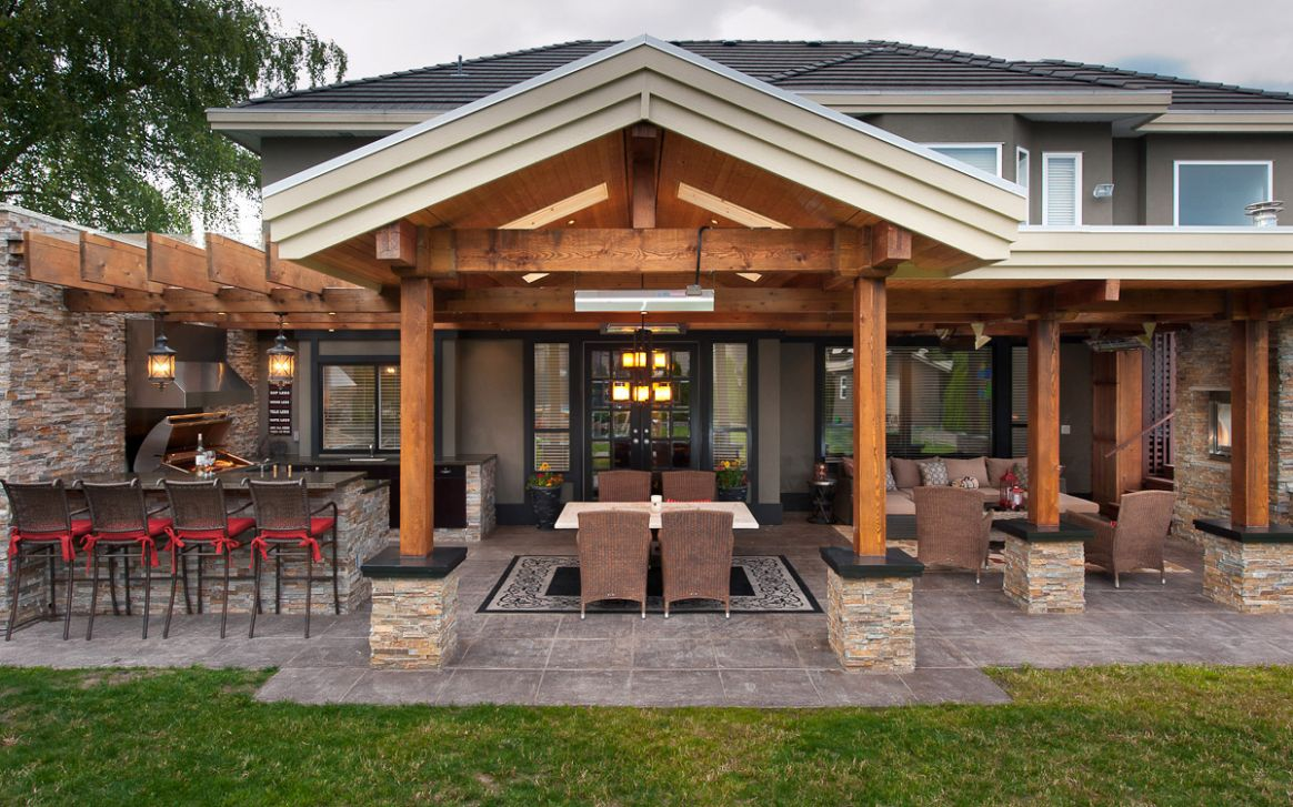 Amazing Backyard Kitchen Ideas With Outdoor Patio Designs Kitchens ...