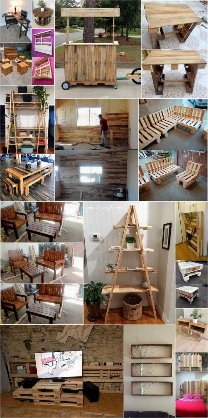 Amazing DIY Ideas Using Shipping Wood Pallets at Home | DIY Home Decor - diy home decor pallets