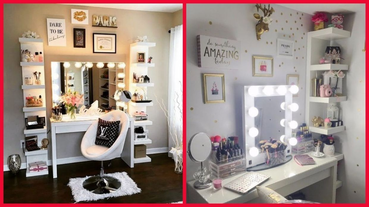 Amazing Dressing Table Decoration Ideas for Girls & Women - makeup room art ideas