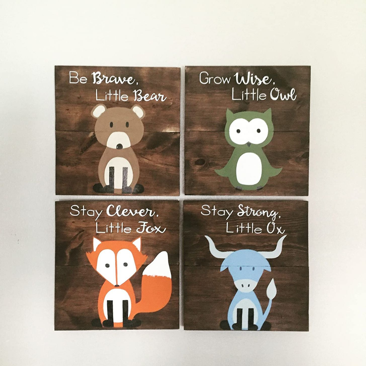 Amazon.com: 11x11 Set of 11 Woodland Animal Nursery Signs Nursery ..