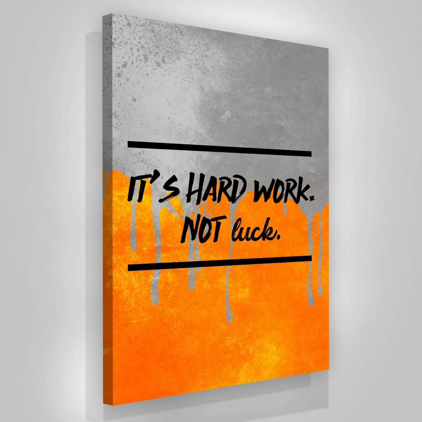 Amazon.com: Hard Work Not Luck Motivation Canvas Print Wall Office ..