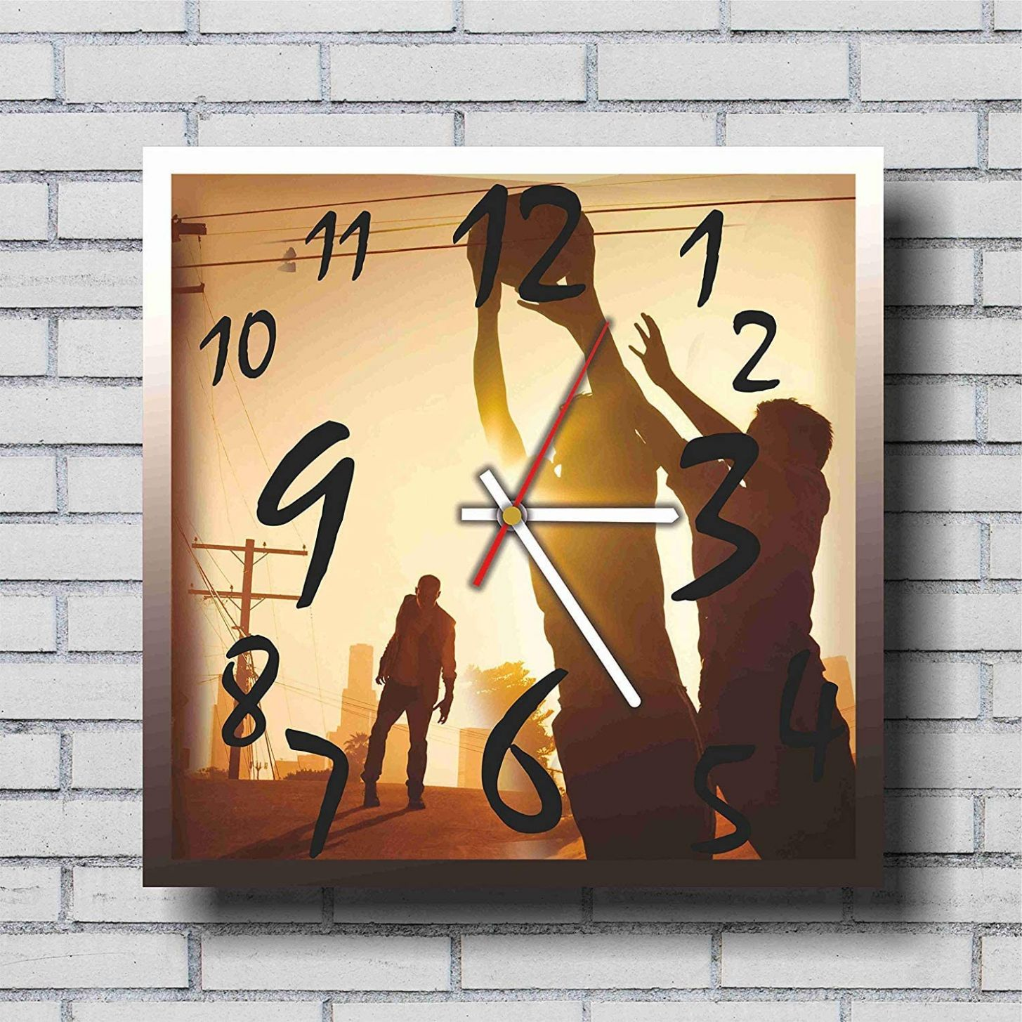 Amazon.com: mV The Walking Dead 11.11'' Handmade Wall Clock - Get ...