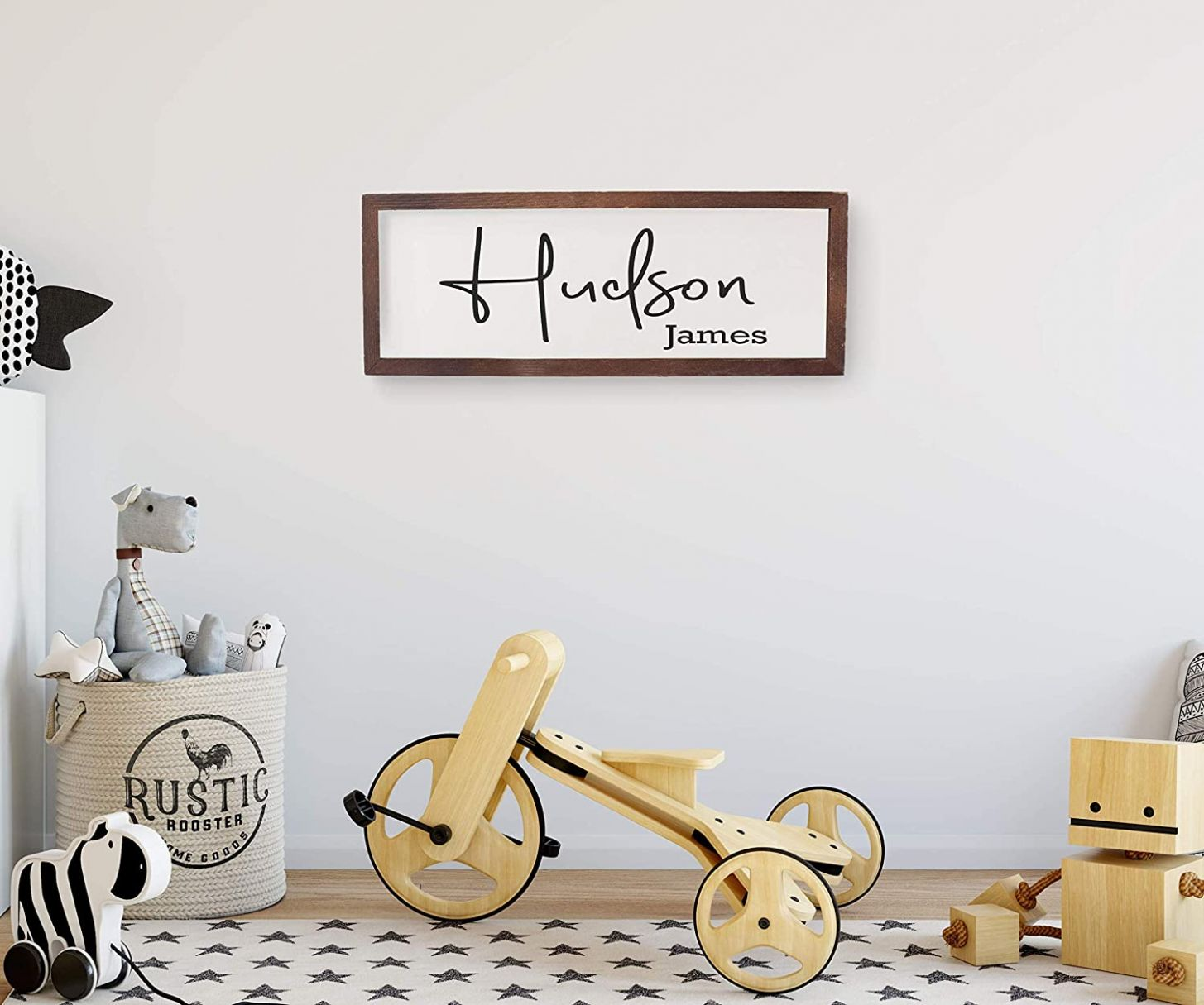 Amazon.com: Nursery name sign,personalized wooden name sign for ...