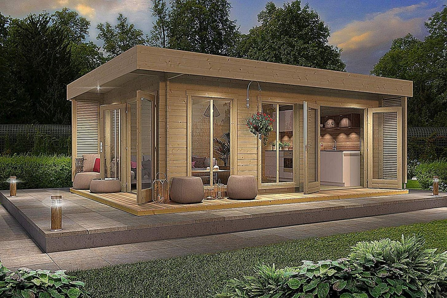 Amazon Is Selling an Allwood Tiny 'Resort-Styled' Cabin Home Kit