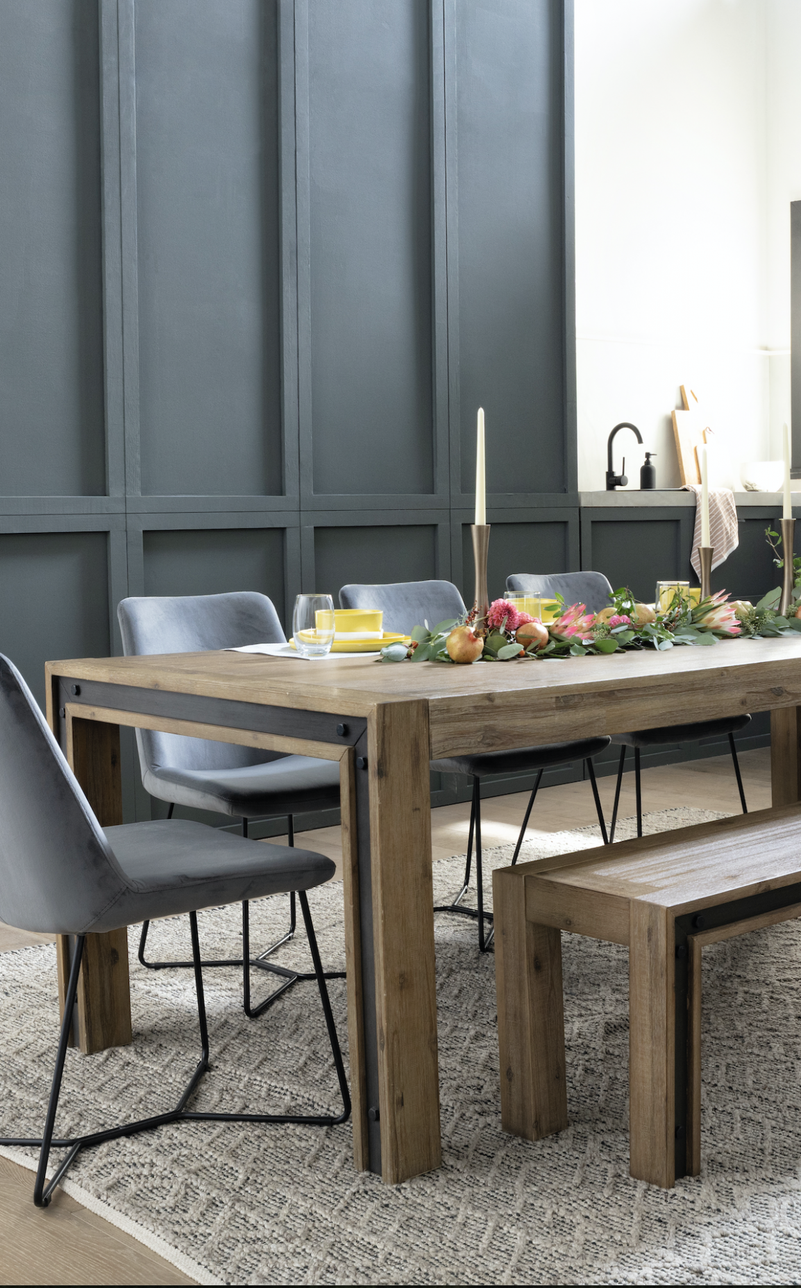 Amos Extension Dining Table in 10 | Dining table, Extension ...