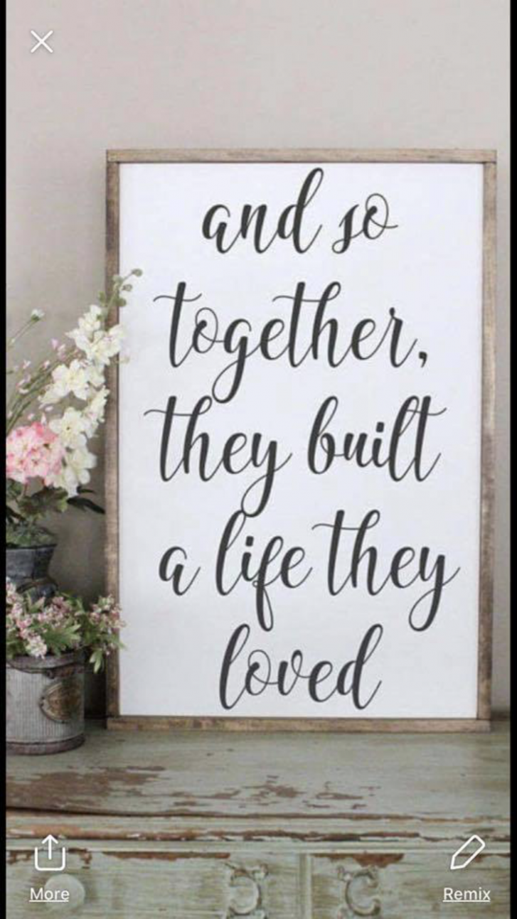 Another sweet quote for our bedroom or closet area | Love wood ..