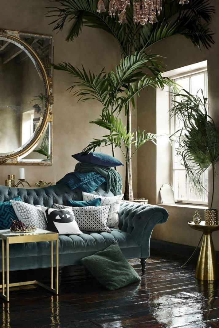 Art ideas Add vintage vibes to your urban jungle living room with ...