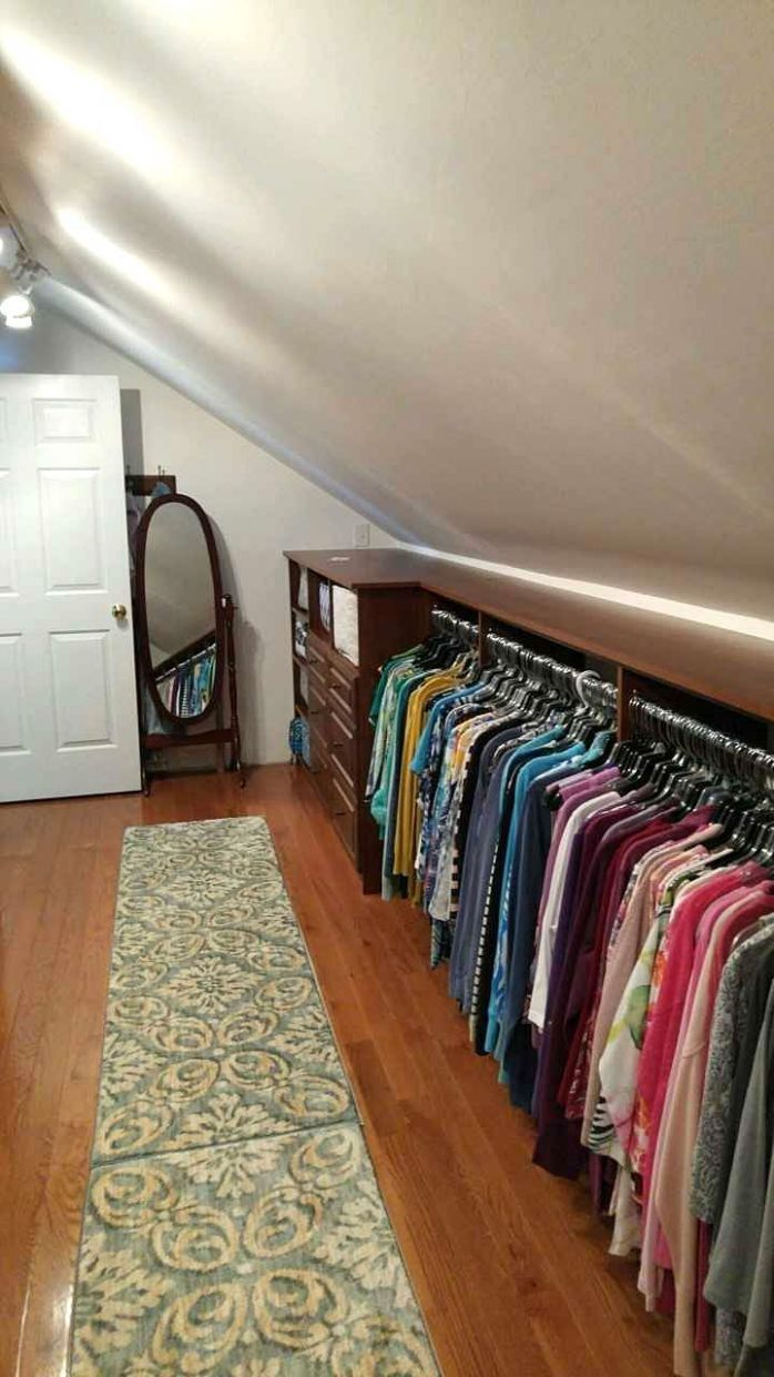 Attic Room Ideas | Attic renovation, Attic closet, Attic bedrooms
